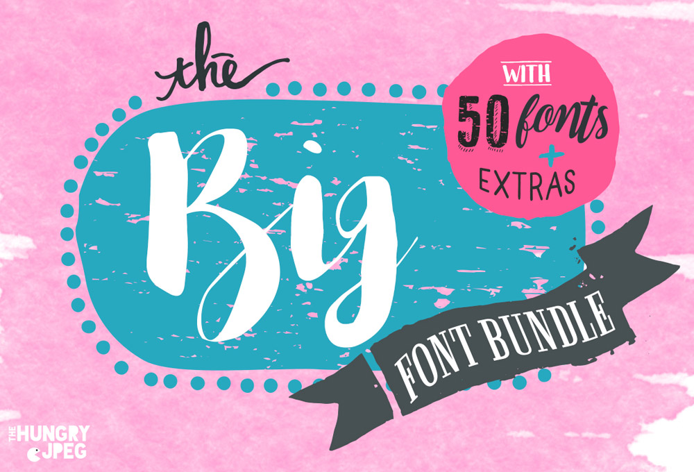 The Big 50 Font Bundle