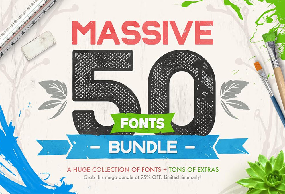 Massive 50 Fonts Bundle