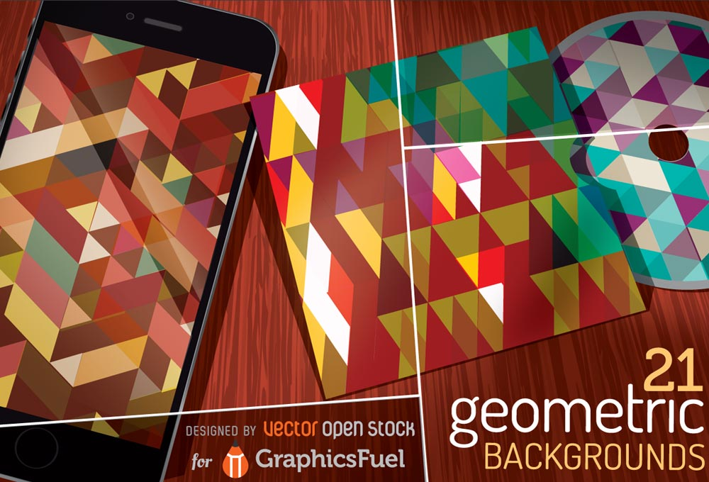 Free Vector Geometric Backgrounds