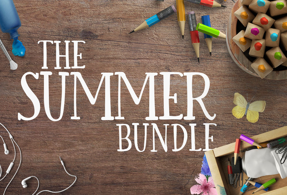 The Summer Bundle: Fonts & Graphics