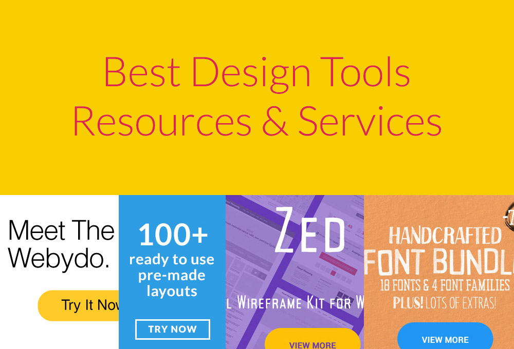 Best Design Tools, Resources and Services