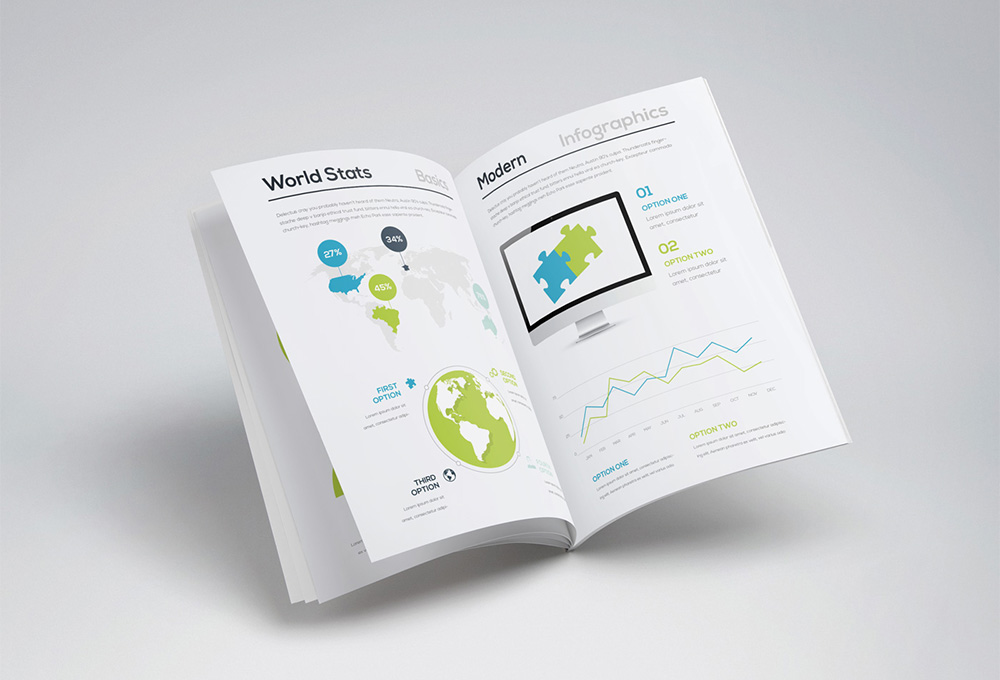 Free Infographic Brochure Template - GraphicsFuel