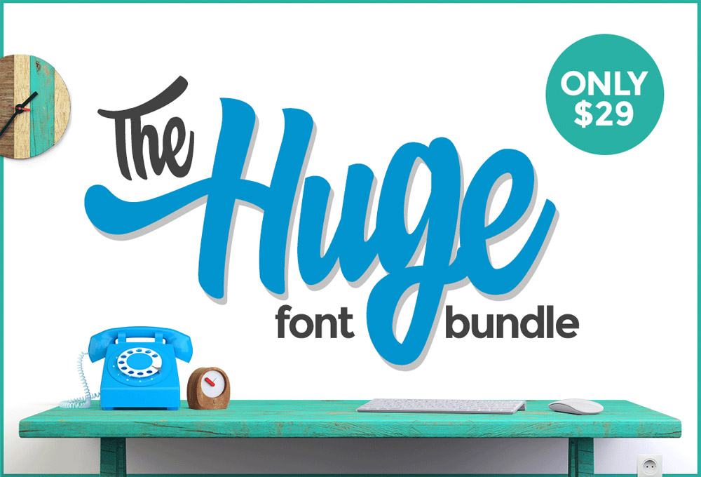 The Huge Font Bundle For September 2015