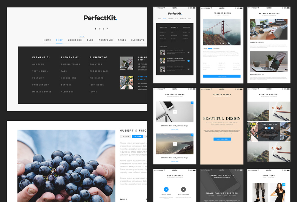 PerfectKit – Free Web And Mobile UI Kit