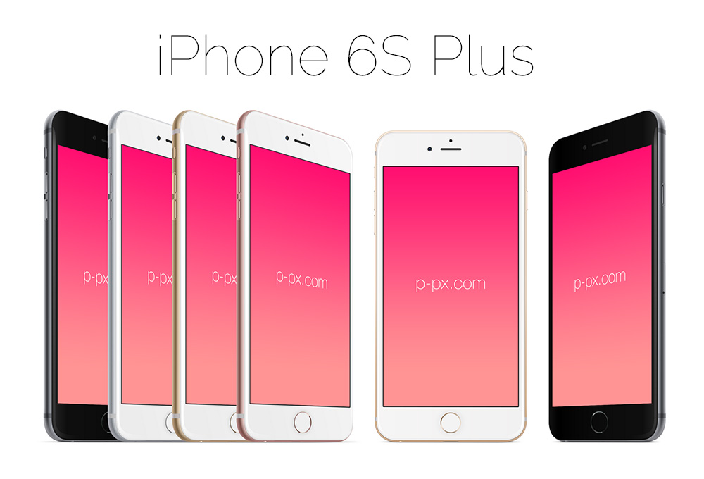iPhone 6S Plus Vector Mockups
