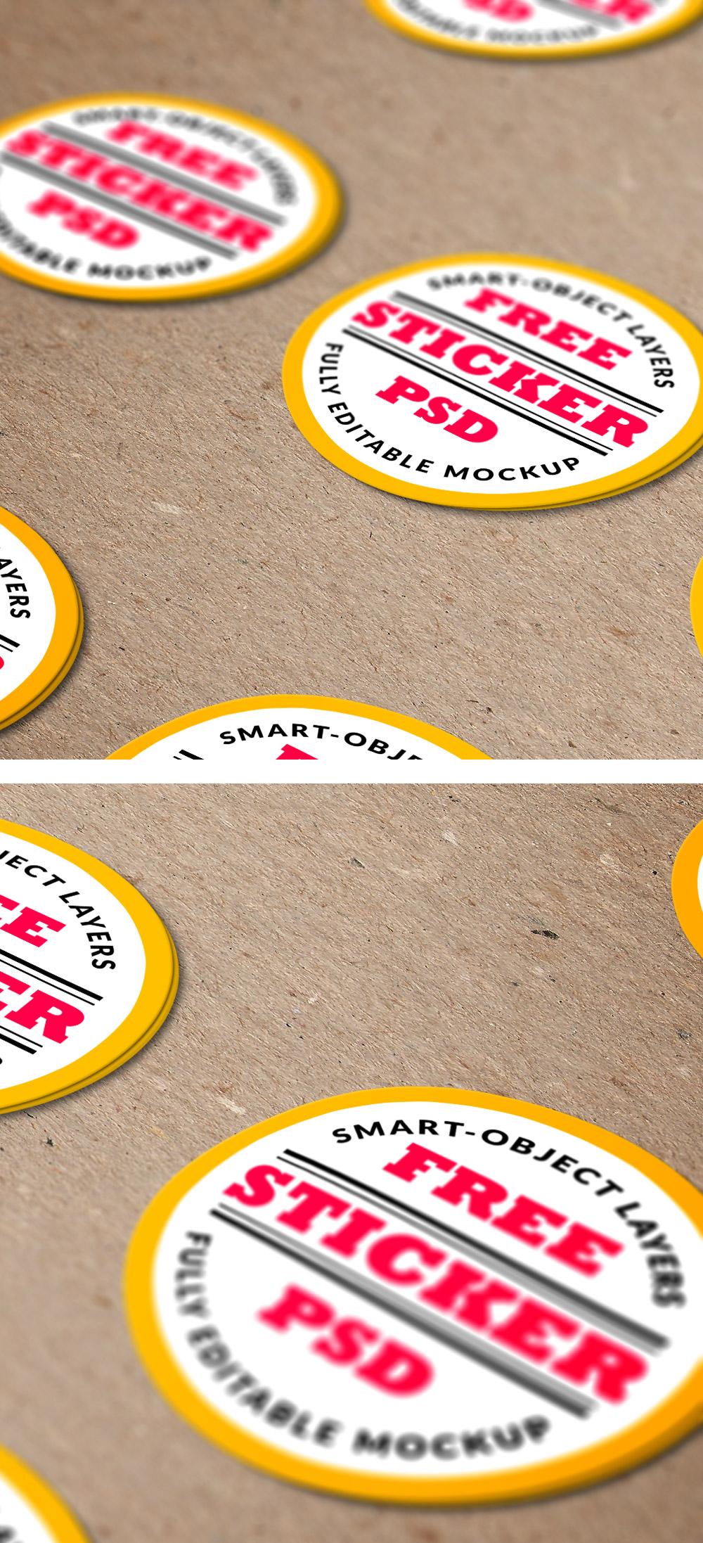 Car sticker design psd - Stickers Logo Mockup Psd