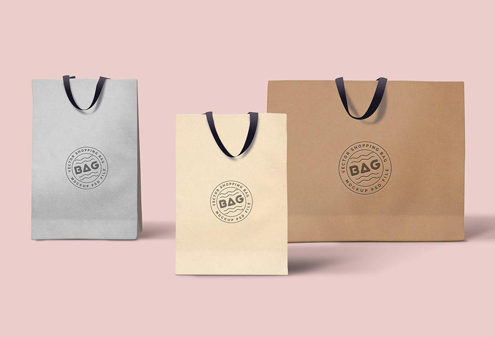 Shopping Bags PSD Template - GraphicsFuel
