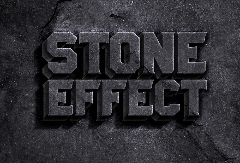 stone text effect psd graphicsfuel. Black Bedroom Furniture Sets. Home Design Ideas