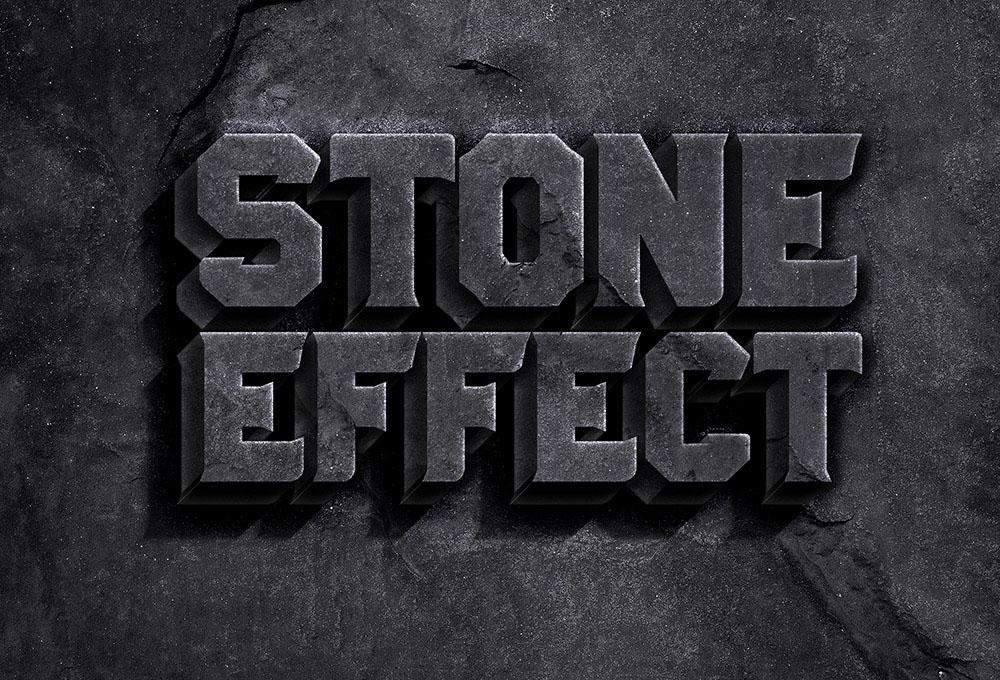 Rock Stone Text Effect PSD