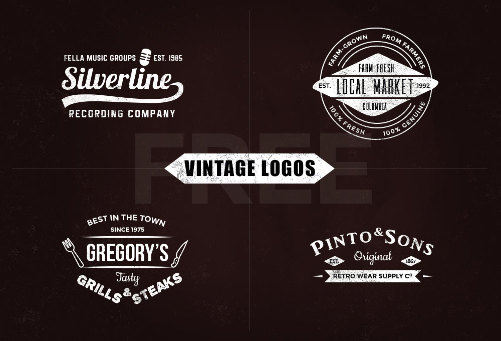 free vintage logo templates vol 1 graphicsfuel. Black Bedroom Furniture Sets. Home Design Ideas