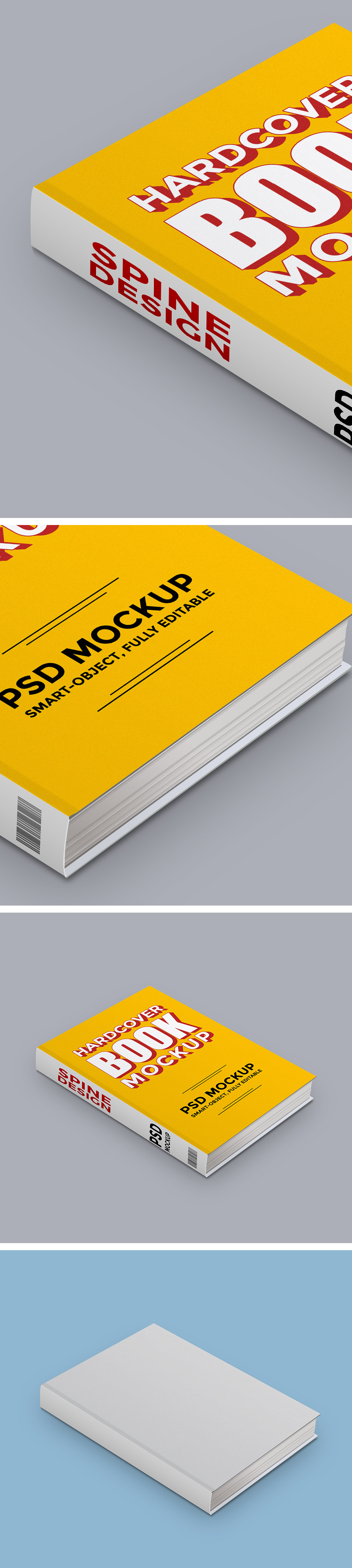 Hardcover Book PSD Mockup