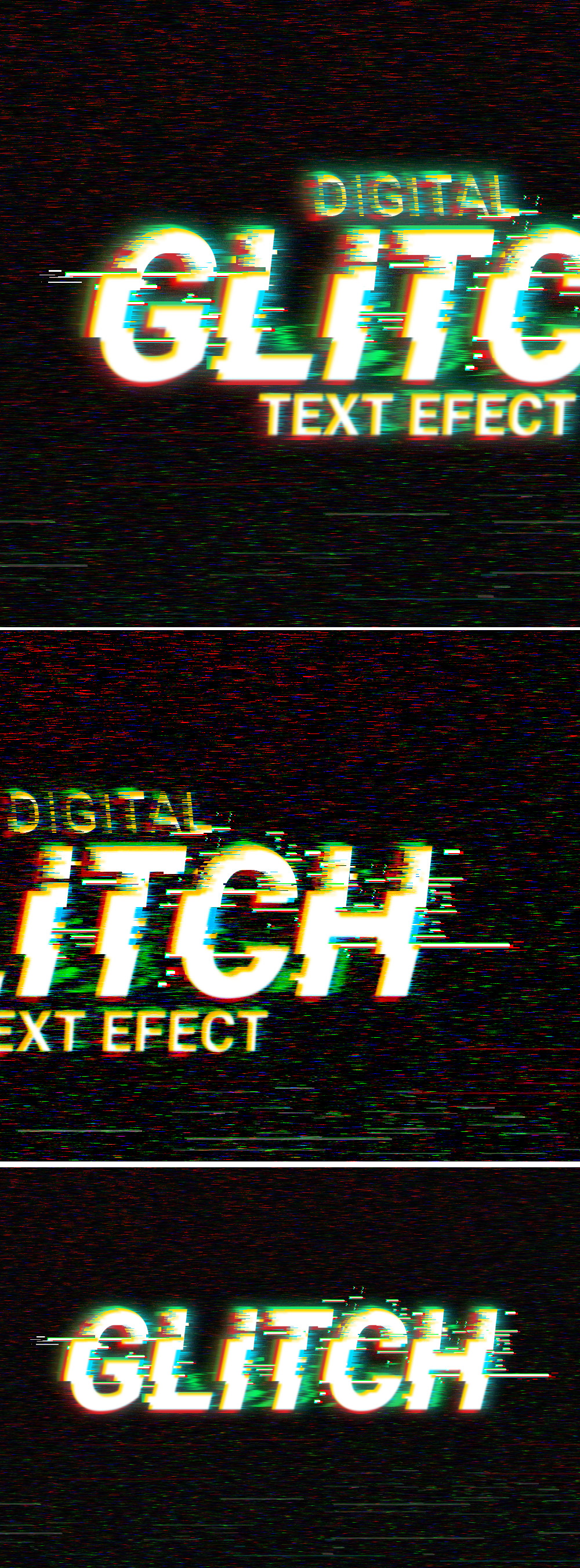 how to get glitchy text