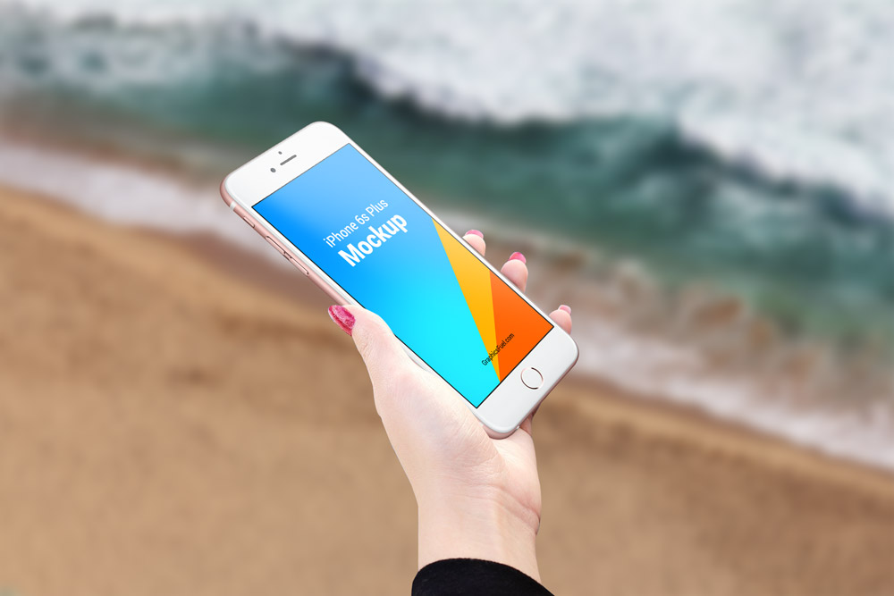 iPhone 6s Plus Outdoor Mockup