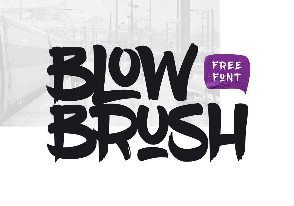 blowbrush free font graphicsfuel