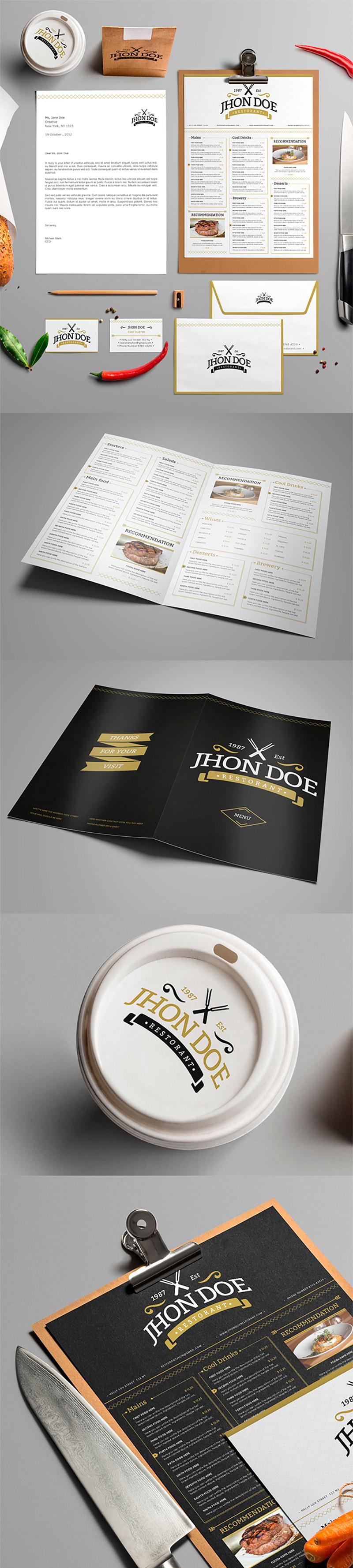 elegant brand identity pack graphicsfuel. Black Bedroom Furniture Sets. Home Design Ideas