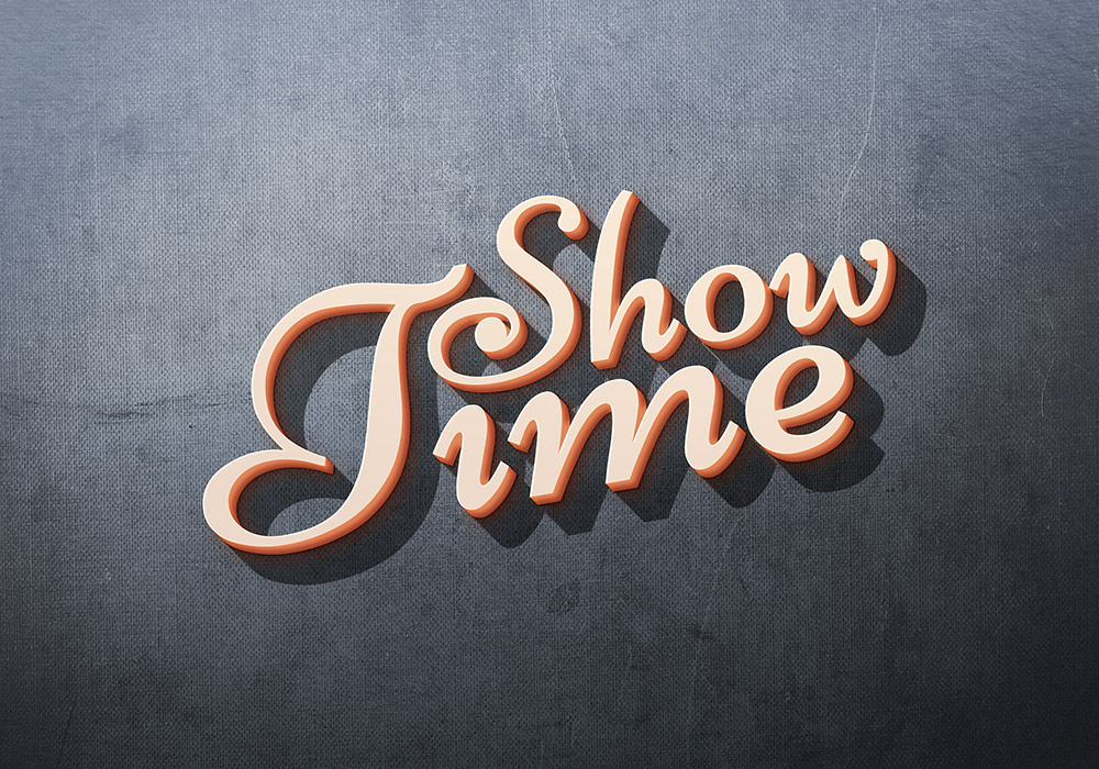 Showtime: Free 3D Text Effect
