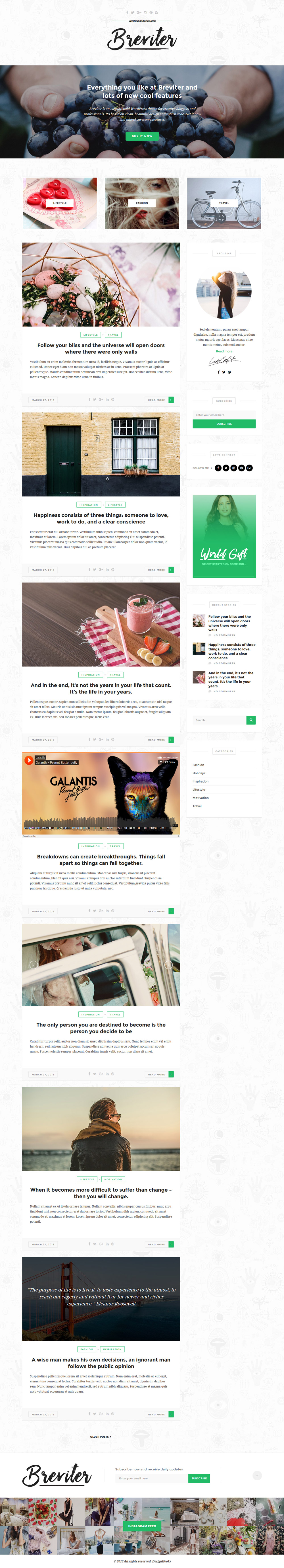 Breviter: WordPress Blog PSD Templates