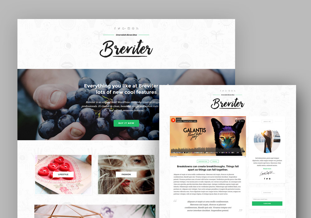 Breviter WP Blog PSD Template
