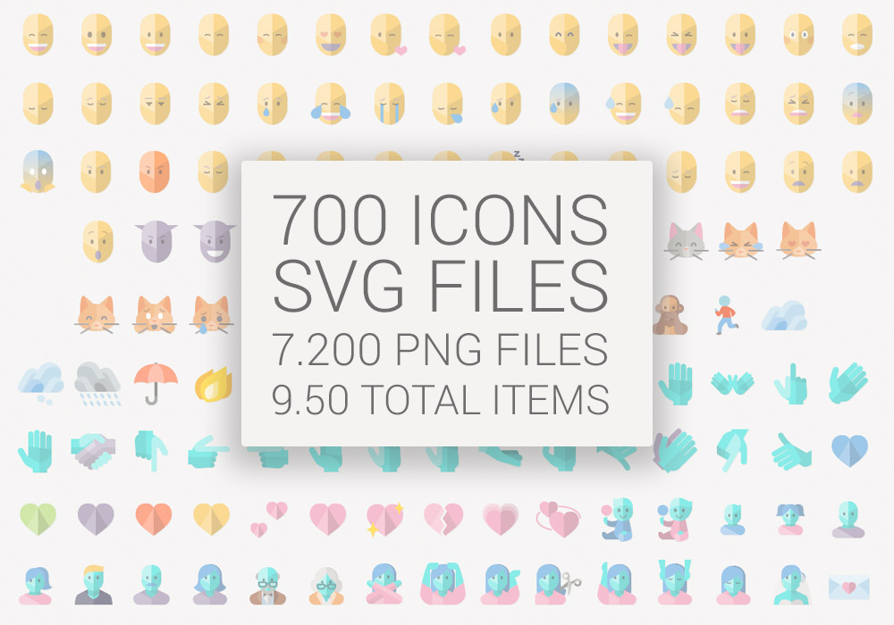 Flat Emoji List Vector Pack