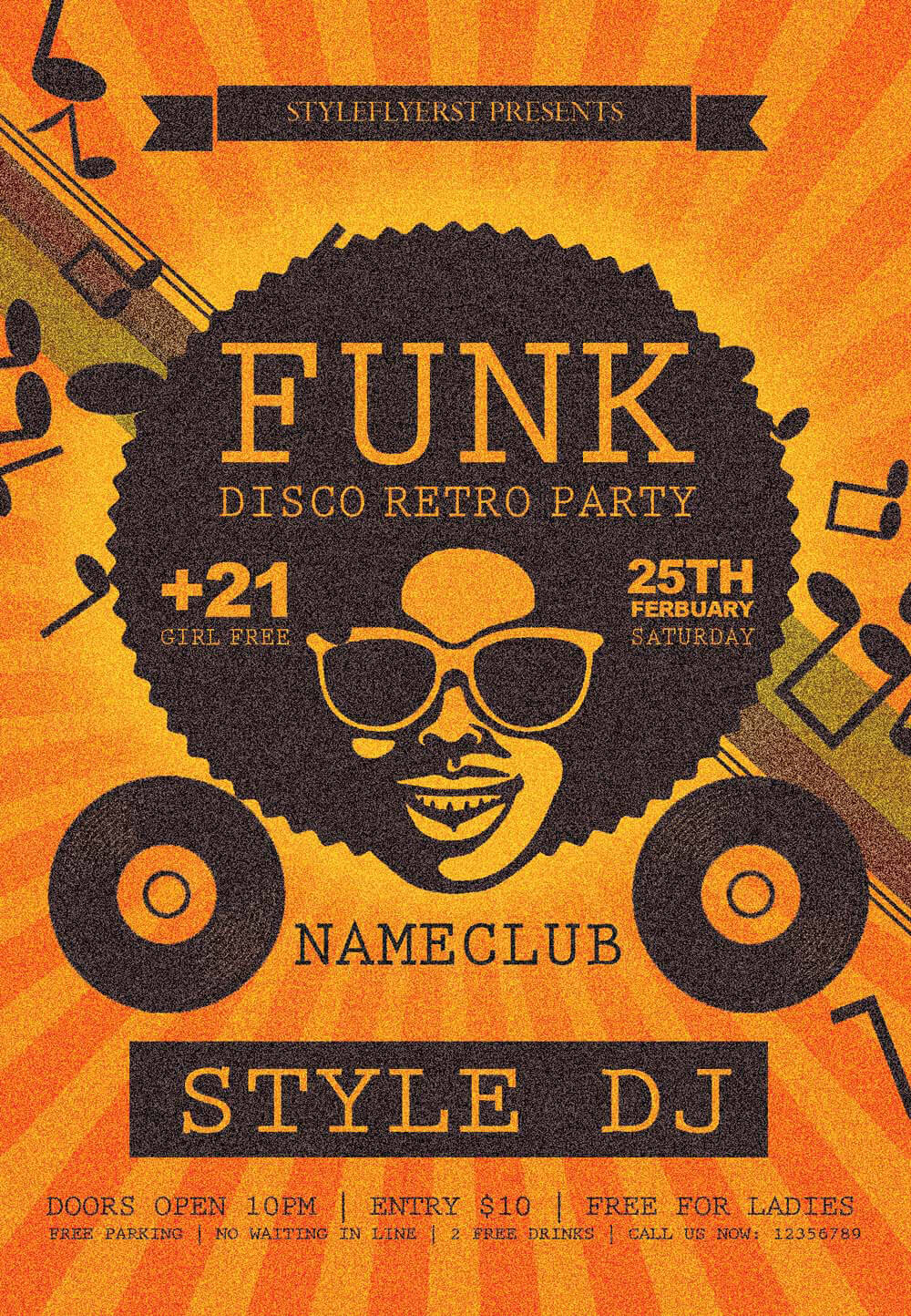 new party season psd flyer templates graphicsfuel funk psd flyer template