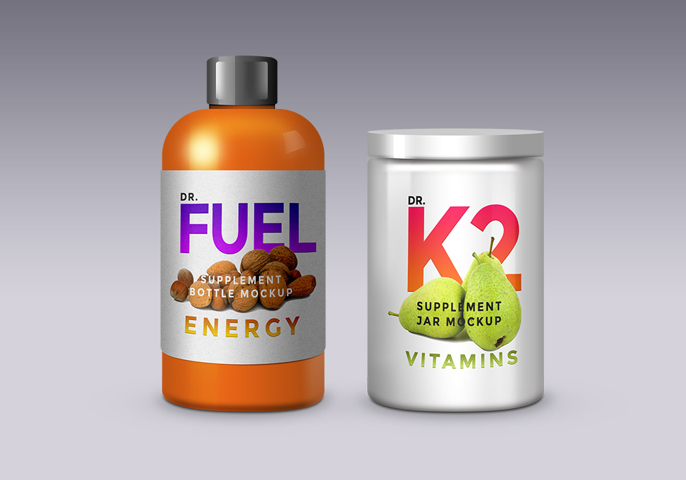 Supplement Product Packaging Mockups