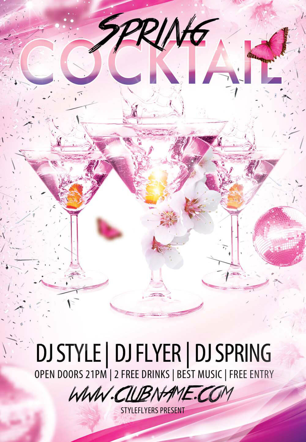 new party season psd flyer templates graphicsfuel cocktail spring psd flyer template
