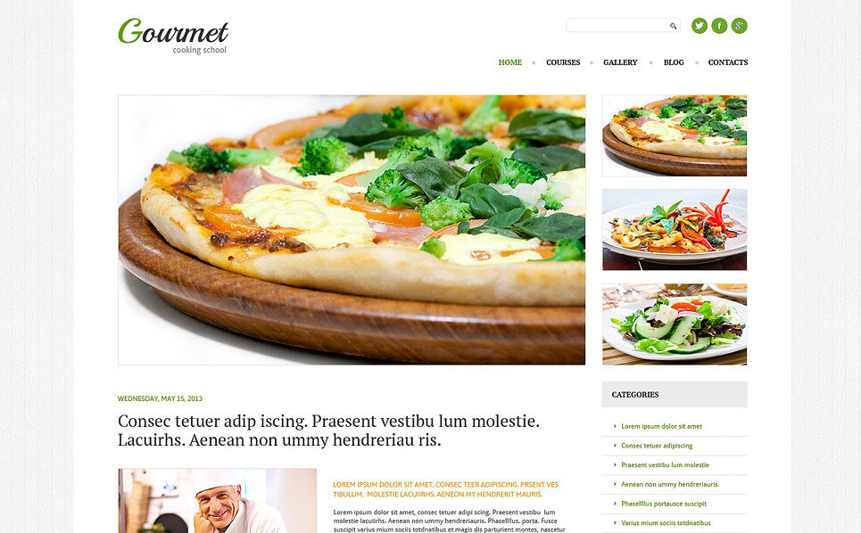 Cooking Responsive WordPress Theme