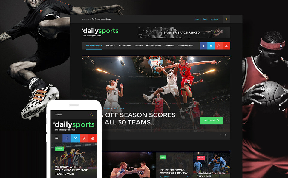 DailySports WordPress Blog Theme