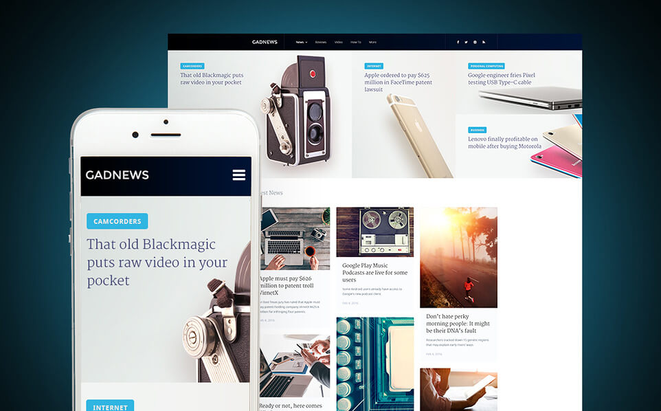 Gadnews - Technology Review WordPress Theme