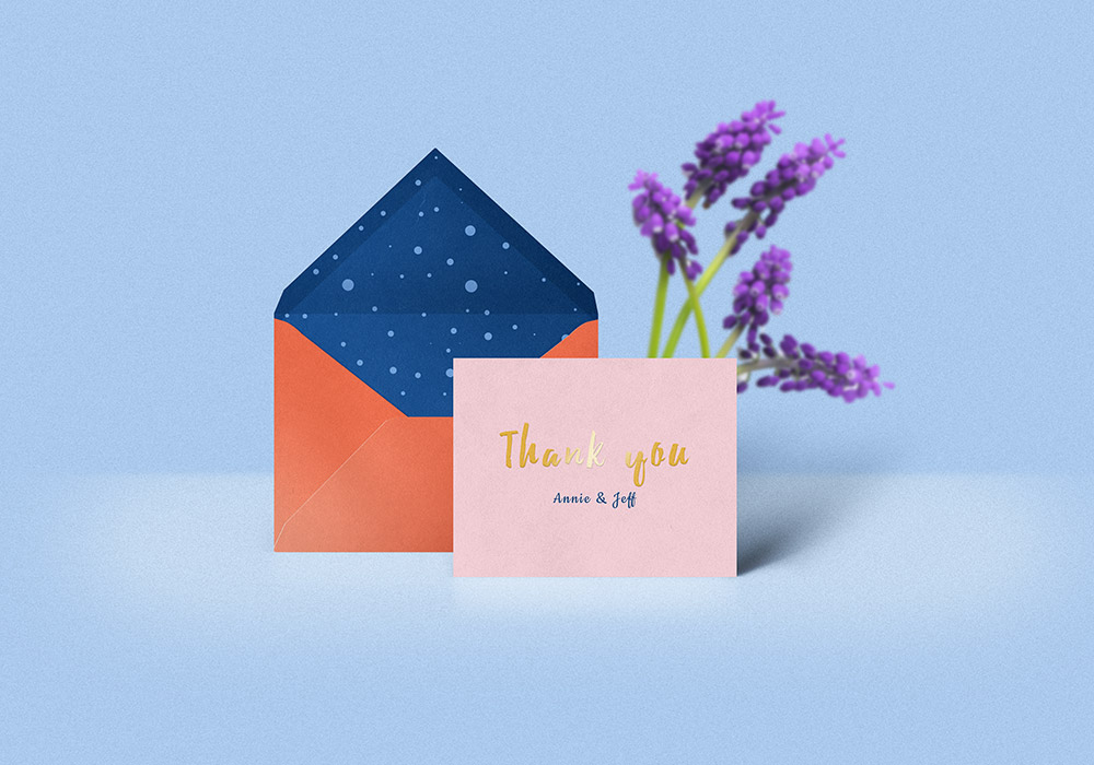 thank you card  u0026 envelope mockup