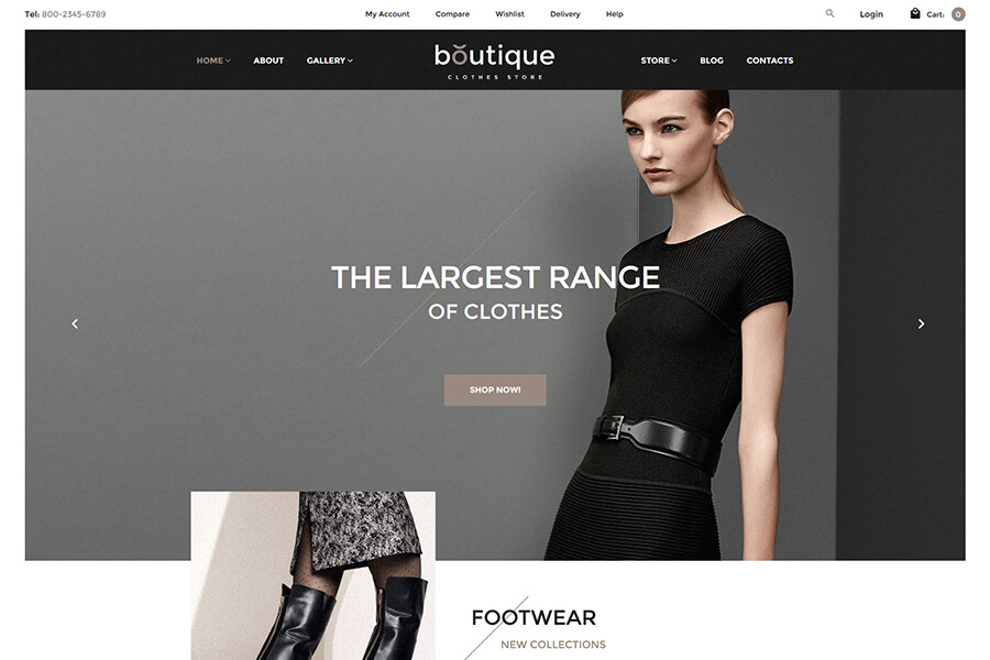 Boutique Fashion WordPress theme