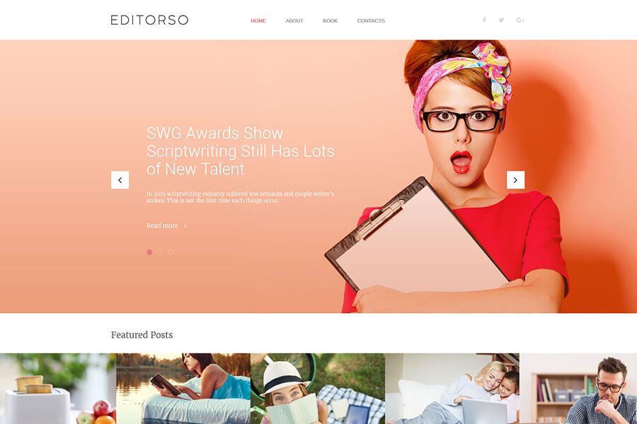 Editorso WordPress theme