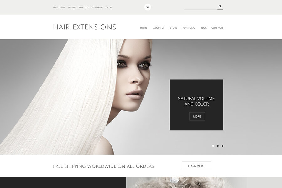 Hair Extensions Salon WordPress Theme