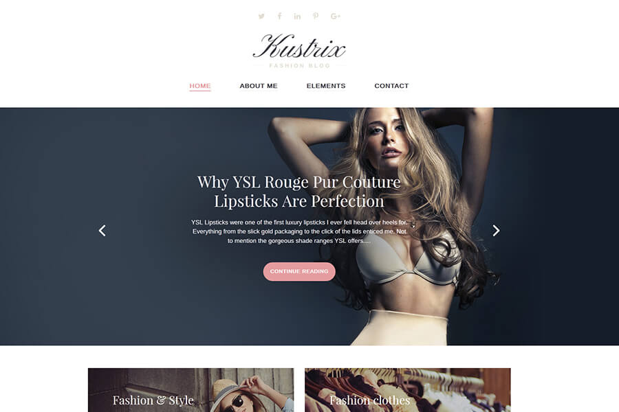Kustrix - Fashion WordPress theme