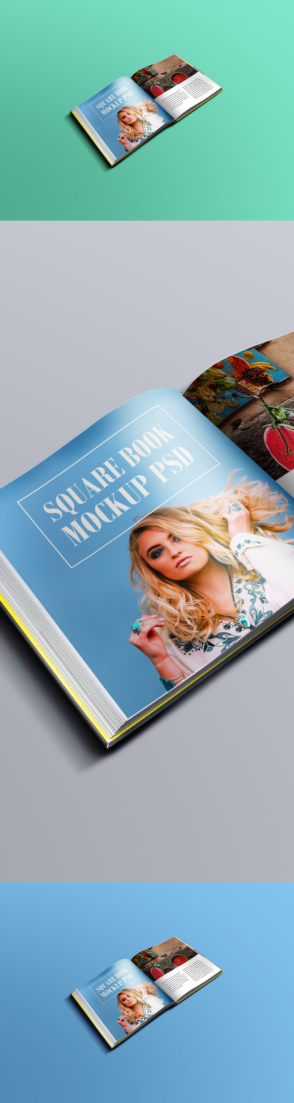 Square Book Mockup PSD