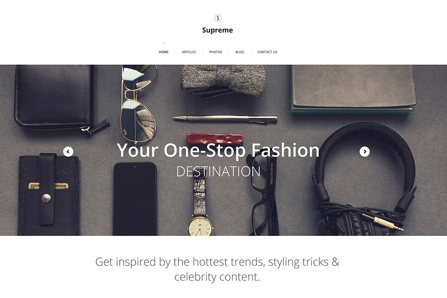 Supreme WordPress theme