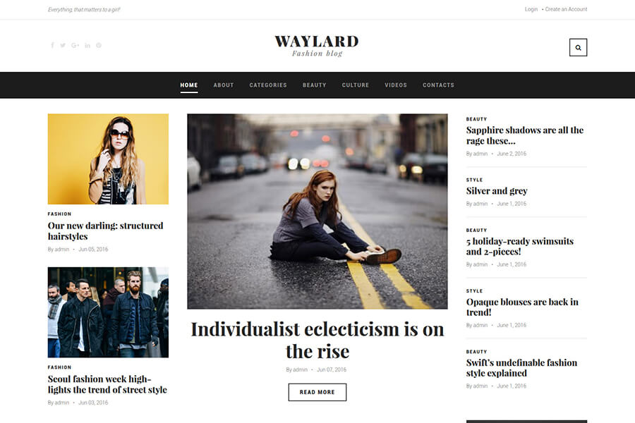 Waylard Fashion WordPress theme