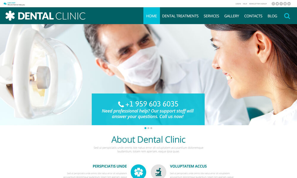 Dental PSD Template