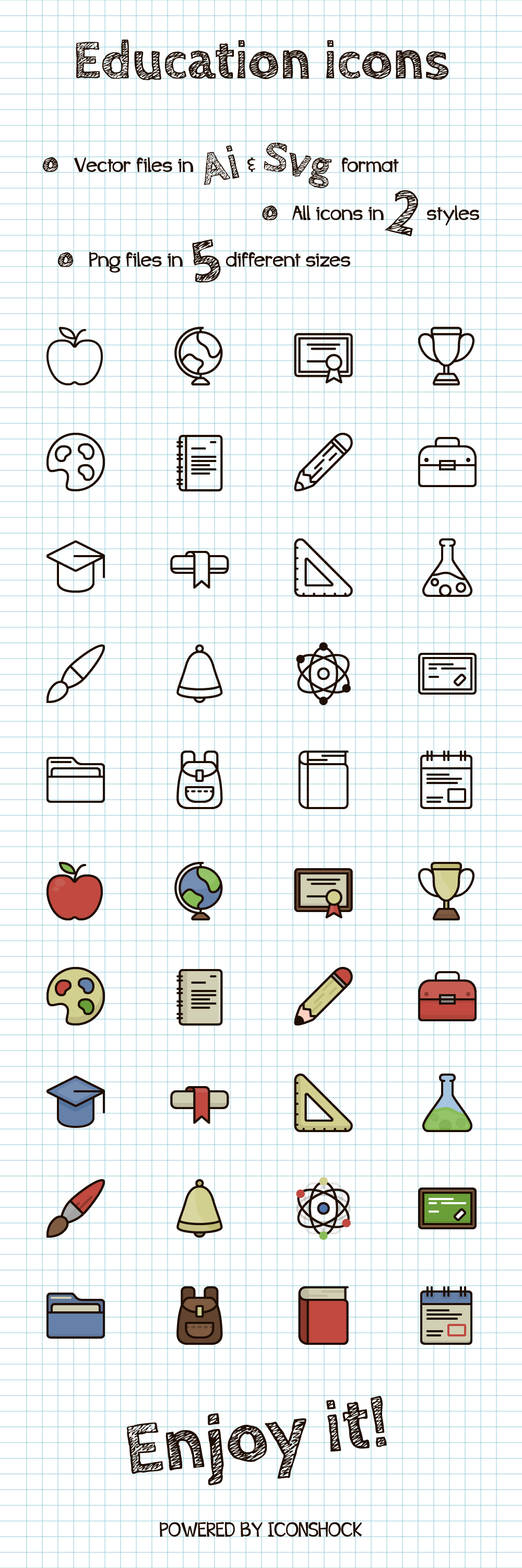 Free Vector Education Icons