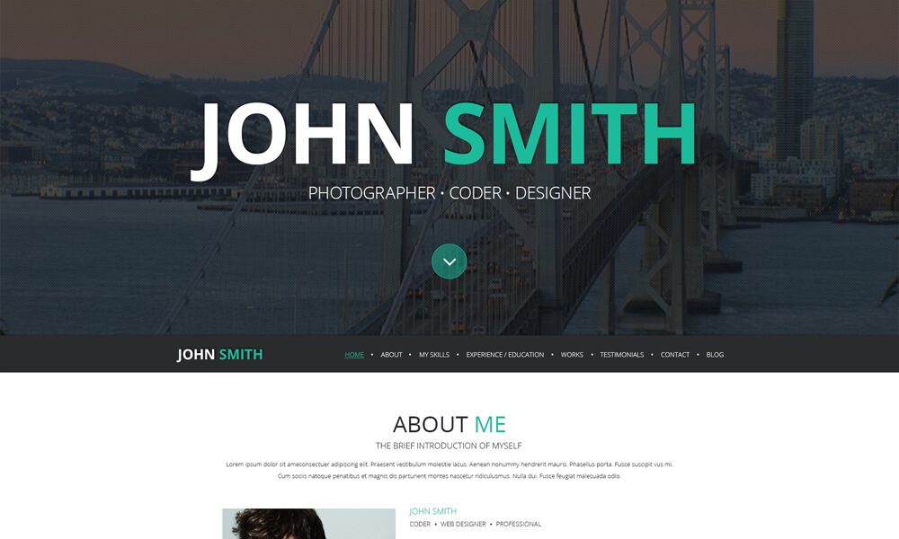 John Smith PSD Template