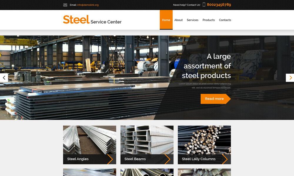 Steel Service PSD Template