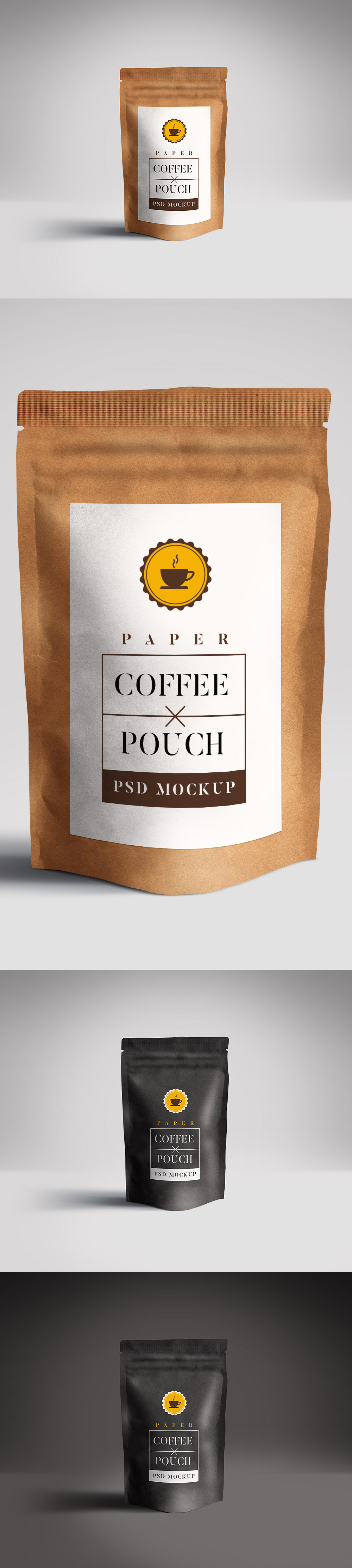 Paper Pouch Packaging Mockup PSD