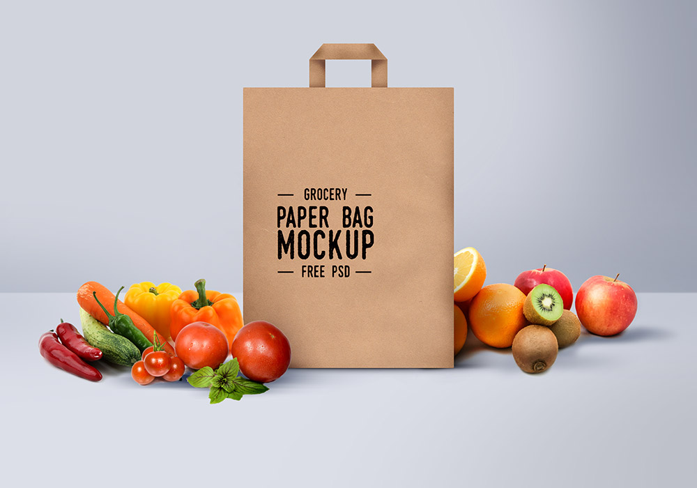 Brown Shopping Paper Bag PSD