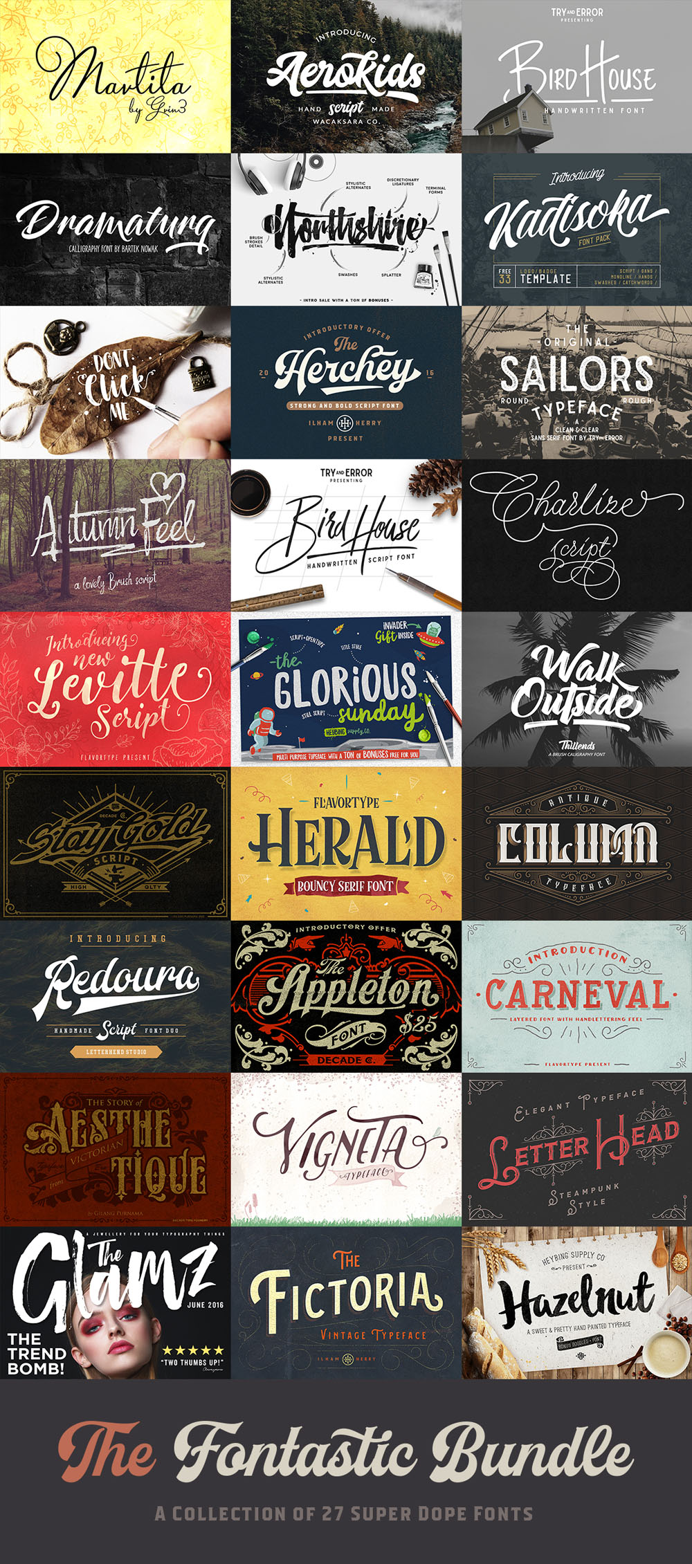 The Fontastic Bundle: 27 Fantastic Fonts - 99% Off
