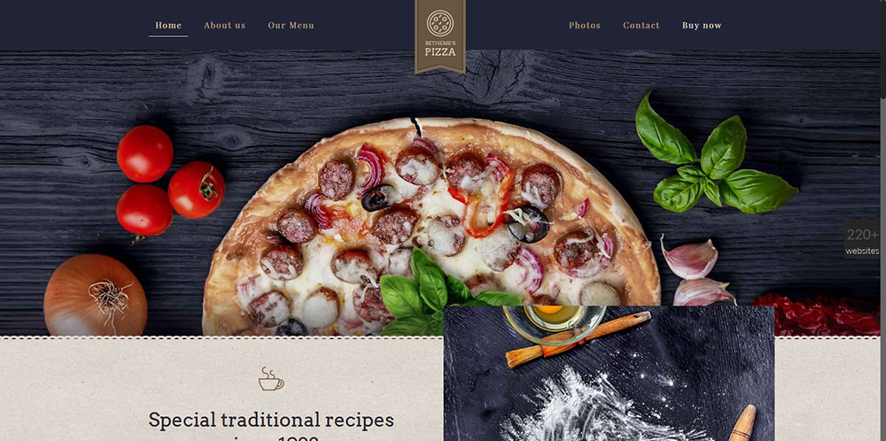 Pizza Prebuilt WP Theme