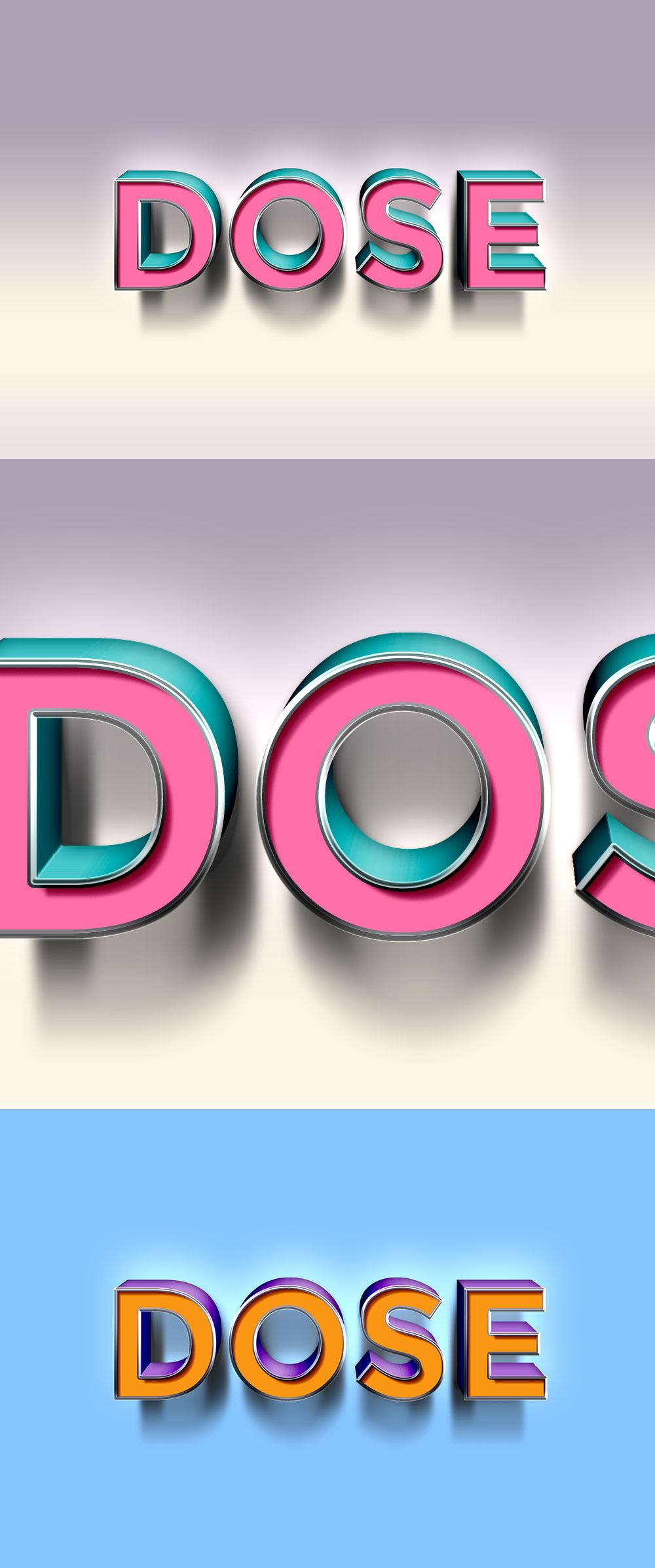 3D Text Effect PSD