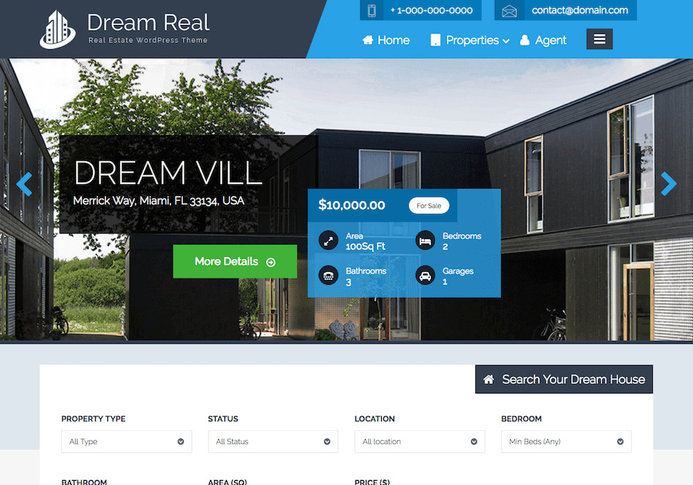 DreamReal WordPress Theme