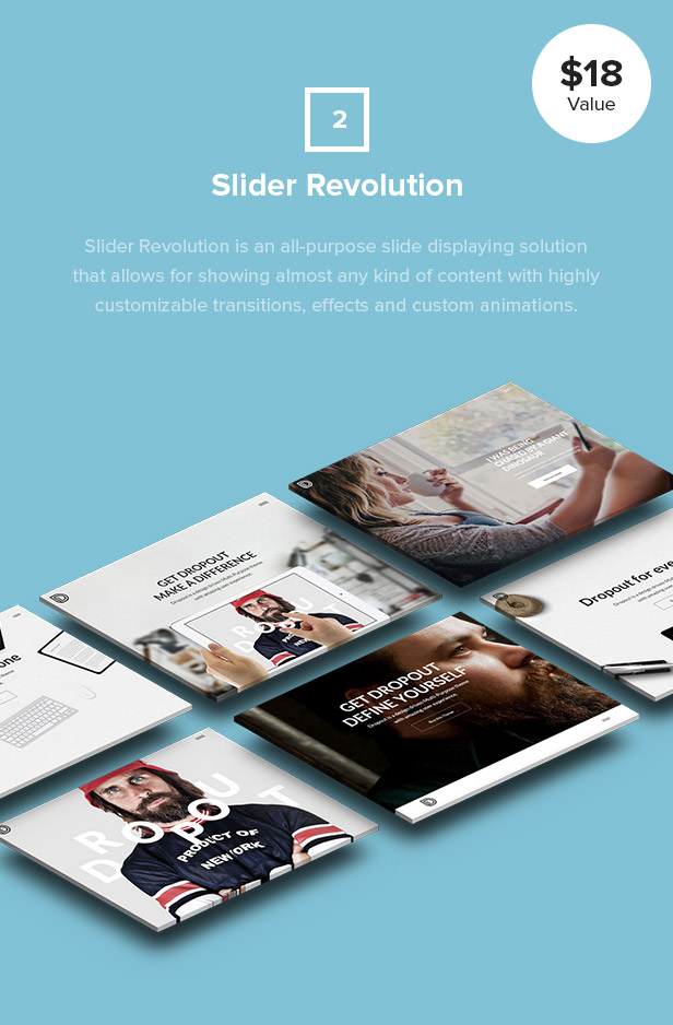 Dropout WP Theme Slider Revolution