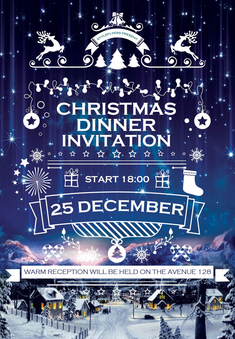 19 and premium flyers for your winter event graphicsfuel christmas dinner invitation flyer