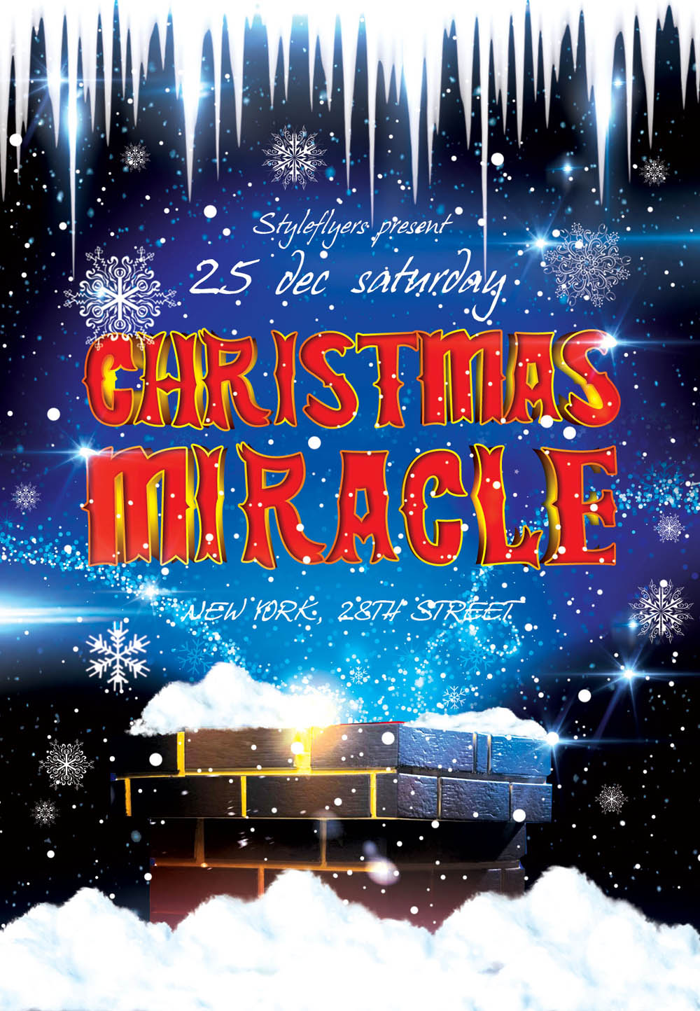 Christmas Miracle Flyer PSD